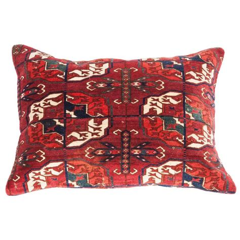 pillows made from rugs antique pillow with velvet like texture made out of a turkmen rug for sale at 1stdibs