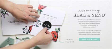 Custom Seal And Send Wedding Invitations