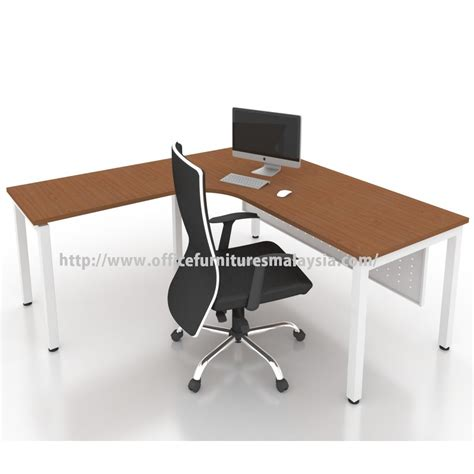 modern l office modern l shape table desk malaysia price damansara