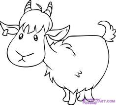 how to draw new year goat goat clip animal coloring pages could be applied to