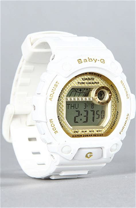 g shock the babyg blx100 in white gold karmaloop