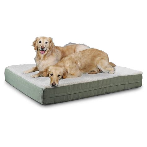 fleece dog bed fleece ortho pet bed 180150 kennels beds at sportsman