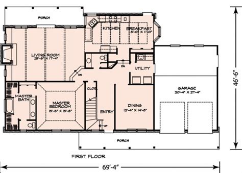 Farmhouse Plans With Porch craftsman style house plan 3 beds 2 50 baths 2552 sq ft