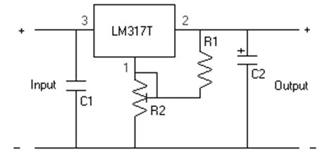 lm317t resistor wattage build a car voltage regulator circuit using lm317 electronic circuits diagram