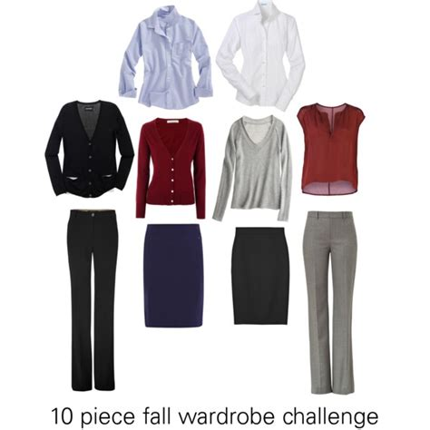 Wardrobe Challenge by 10 Fall Wardrobe Challenge Business Casual Polyvore