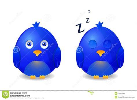 Beleuchtungskörper by Blue Bird Awake And Sleeping Royalty Free Stock Photos