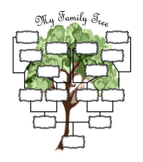 Genealogy Tree Template 51 Family Tree Templates Free Sle Exle Format Free Premium Templates