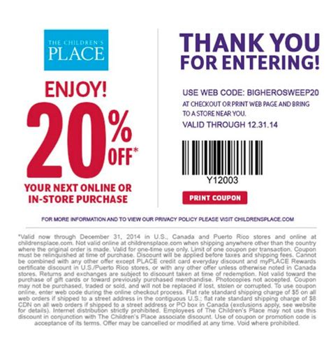 printable children s place outlet coupons promo code american eagle stunning other deals for
