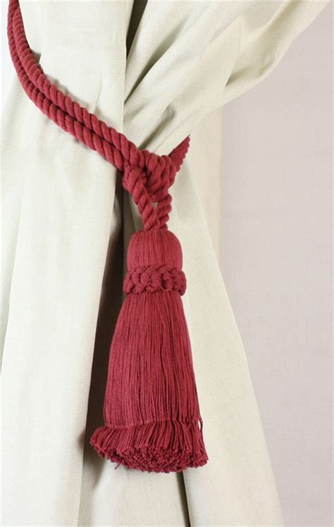 rope tassel curtain tie backs pair cotton tassel rope curtain tiebacks tie backs 12