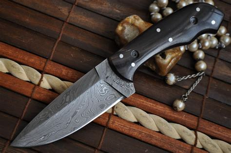 Handmade Bushcraft Knives - handmade beautiful bushcraft knife damascus steel