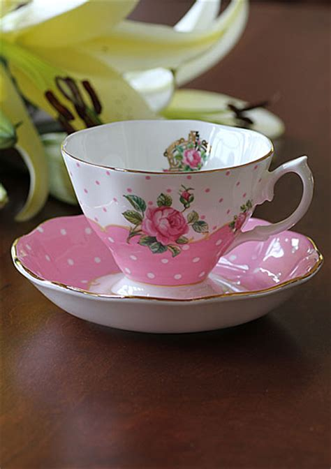 Teacup New Country royal albert china new country roses cheeky pink vintage teacup and saucer boxed set