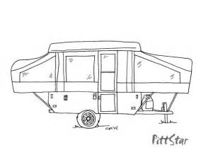 Pop Up Camper Trailer Coloring Pages Sketch Page sketch template