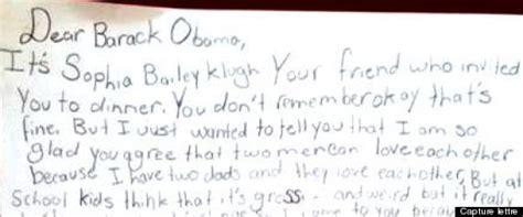 Modèle De Lettre D Invitation En Espagnol Homophobie Obama R 233 Pond 224 La Lettre D Une Fille 233 Lev 233 E Par Deux Papas