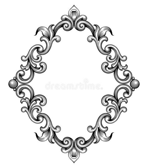 decorative baroque design elements vector vintage baroque frame engraving scroll ornament vector