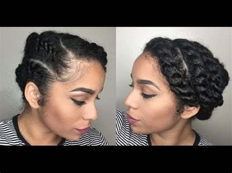 easy protective style  natural hair flat twist youtube
