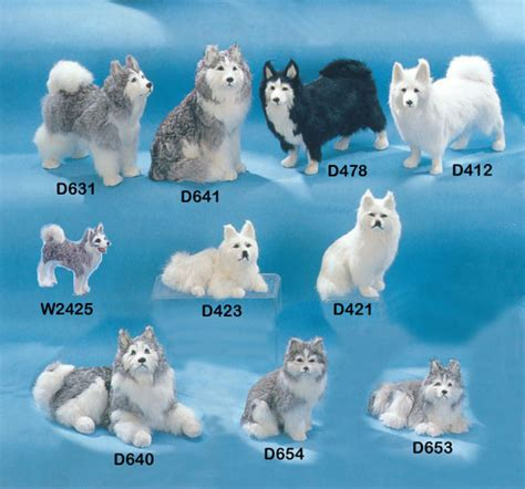 dogs similar to husky realistic husky figuines