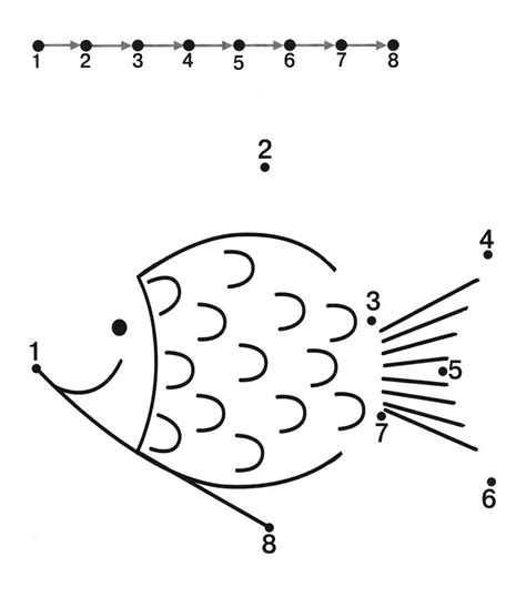 printable worksheets connect the dots dot to dot printables for kindergarten fish dot worksheets