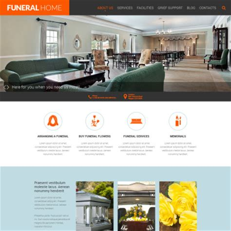 Funeral Services Website Templates Templatemonster Funeral Home Website Templates