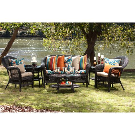 patio furniture mobile al 100 wicker settee replacement cushions patio furniture cushions lloyd flanders