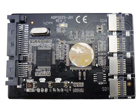 Sd Card To 22 Pin Sata 1 free shipping 4 micro sd tf card to 22pin sata adapter card 2 5 quot hdd enclosure with raid 0 multi