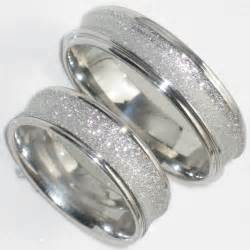 mens and womens matching wedding ring sets his hers 6mm sandblast wedding ring band str383w mens or