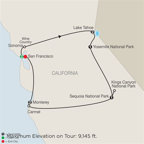 map san francisco vancouver america national park vacation packages tours globus 174