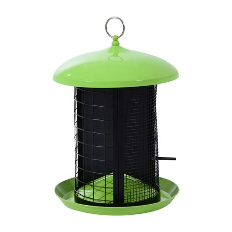 pawhut triple chamber squirrel resistant outdoor bird