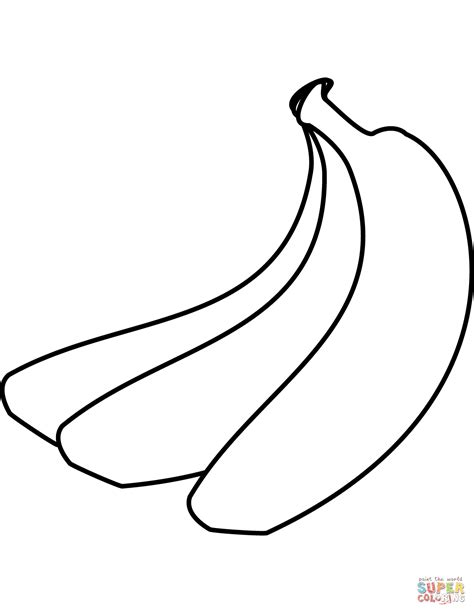 banana coloring page bananas coloring page free printable coloring pages