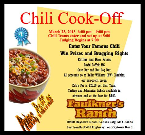 chili cook template word from the herd chili cook faulkner s ranch