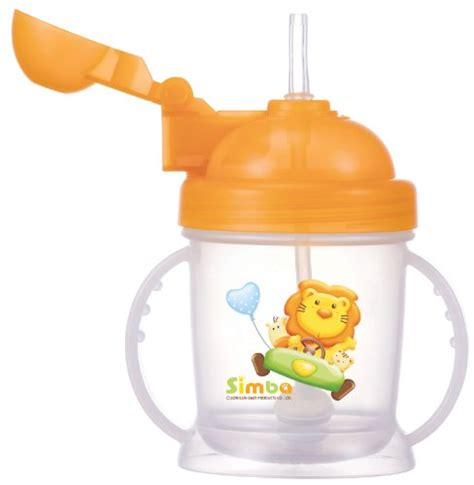 Simba Flip It Baby Straw Cup Gelas Latih Sedotan Bayi 73 nuby two handle flip n sip straw cup 8 ounce pink with