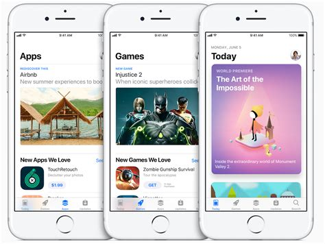 app store apple reveals redesigned app store for ios 11 with design