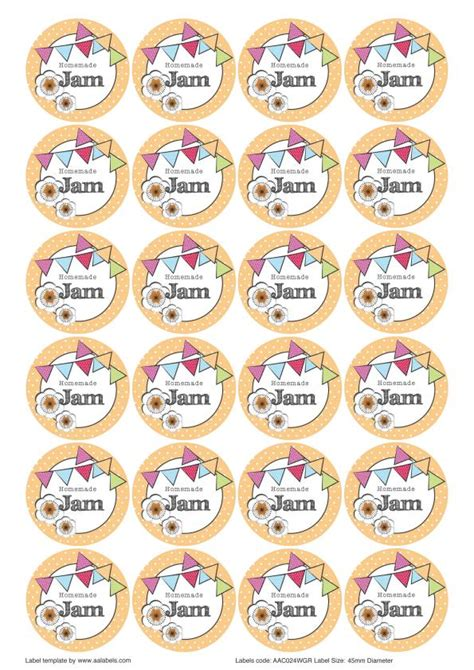 the great british summer jam jar labels designs aa