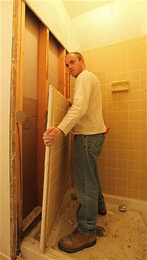 removing tile from bathroom wall diy bathroom remodeling tips guide help do it yourself