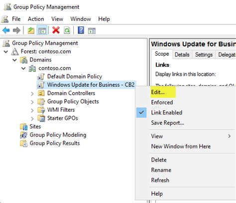 walkthrough  group policy  configure windows update