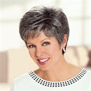 salt and pepper pixie cut human hair wigs image result for salt and pepper hair women hair