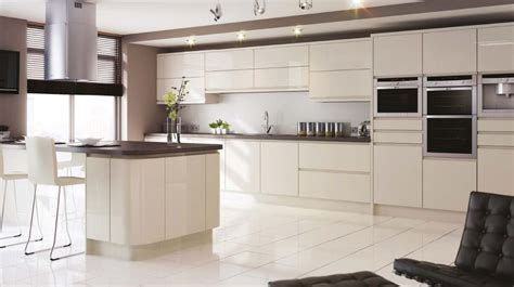 sheraton in line gloss kitchen j pull doors with an