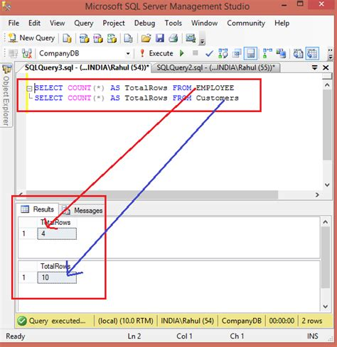 Select From Tables Sql by Count All Tables Rows In Sql Server