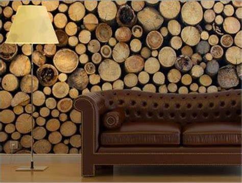 wood wall covering ideas cool idea a city friendly solution for a woodsy visual fabrics logs and wood on walls