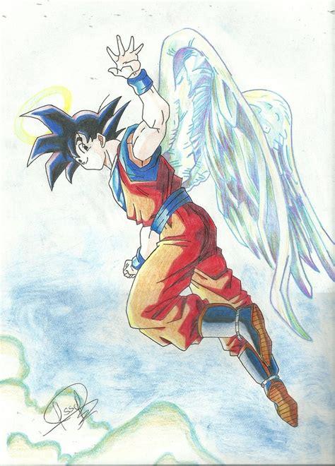 Imagenes De Goku Con Alas   goku con alas by j s s c on deviantart