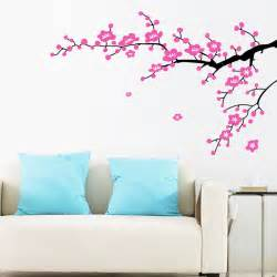 Floral Wall Stickers Plum Flower Branches Wall Sticker Home Decorating Photo
