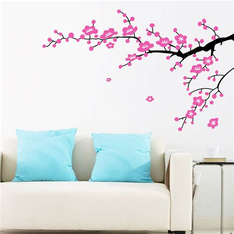 flowers wall stickers plum flower branches wall sticker home decorating photo