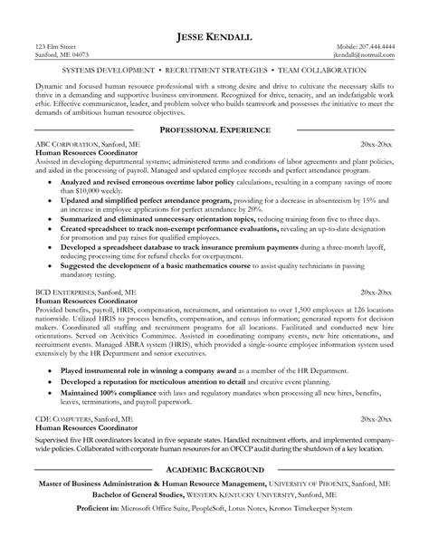 sle hr executive resume hr executive resume sle in india 28 images hr resume