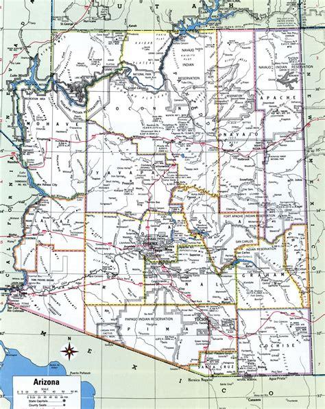 printable arizona road map arizona state map printable large arizona highways map