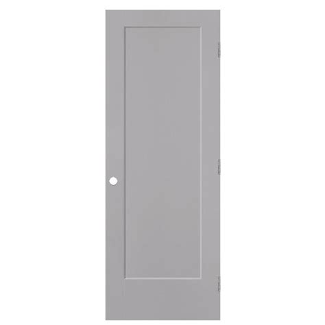 Single Panel Interior Doors Shop Masonite Lincoln Park Driftwood 1 Panel Single Prehung Interior Door Common 30 In X 80 In