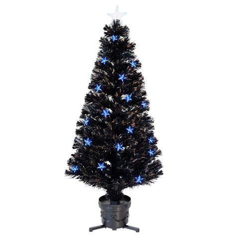 4ft 120cm beautiful black fibre optic christmas tree with
