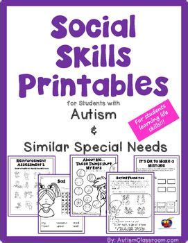 social skills handbook for autism activities to help learn social skills and make friends books social skills printables for students with autism