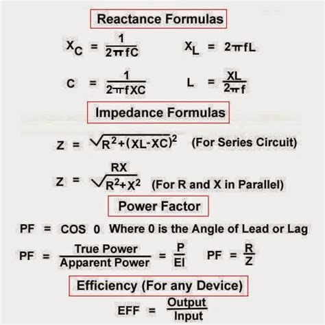 transformer impedance and efficiency electrical engineering world formulas of reactance impedance power factor and efficiency
