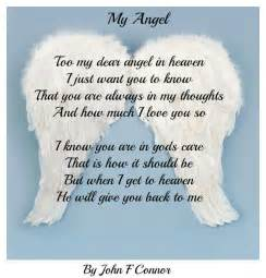 Too my dear angel in heaven i just want you to know that you are