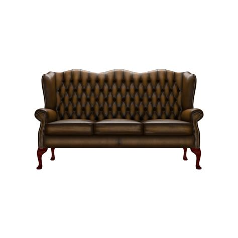 classic sofas uk classic 3 seater in antique red from sofas by saxon uk