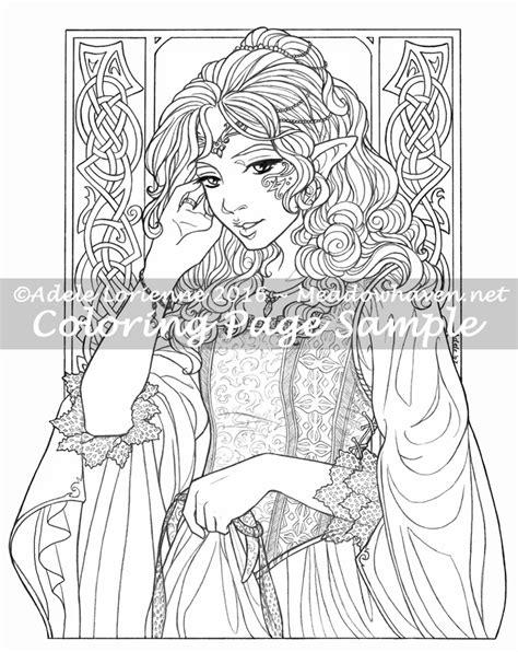 elf princess coloring page elf princess coloring page meadowhaven